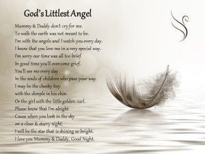 Littlest Angel Funeral Poem