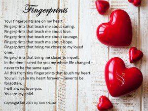 Fingerprints Funeral Poem