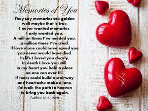 Funeral Poem Memories of You