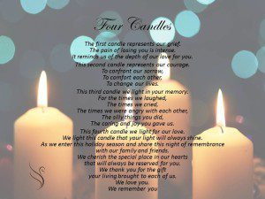 Funeral Poem - Four Candles & Funeral Poem Four Candles - Swanborough Funerals azcodes.com