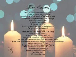 Funeral Poem - Four Candles