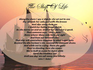 Funeral Poem Ship of Life
