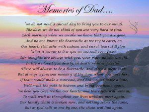 Funeral Poem Memories Of Dad