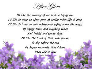 Funeral Poem Afterglow