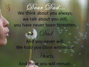 Funeral Poem Dear Dad