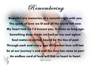 Funeral Poem Remembering