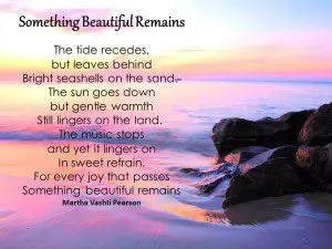 Funeral Poem Something Beautiful
