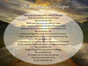 Funeral Prayer Remembrance