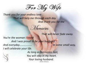 Funeral Poem For My Wife Swanborough Funerals