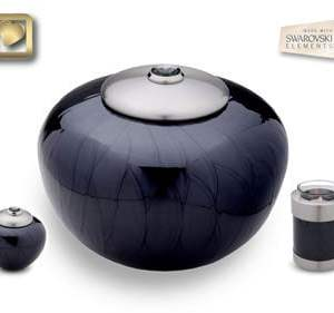 Simplicity Midnight Pearl Cremation Urn
