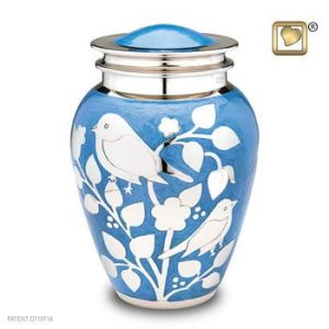 Silver Blessing Bird Cremation Urns