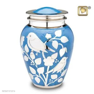 Silver Blessing Bird Urn