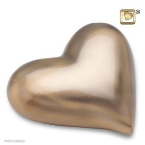 Gold Brushed Heart Keepsake Urn