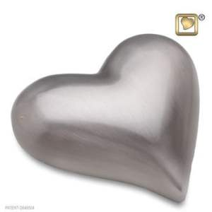 Pewter Brushed Heart Keepsake Urn