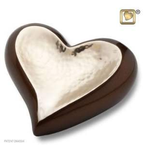 Gold Bronze Hammered Heart Keepsake Urn