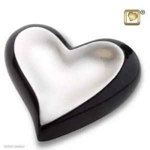 Pewter Midnight Brushed Heart Keepsake Urn