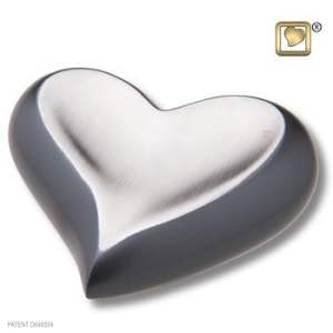 Heart Slate Pewter Keepsake Urn