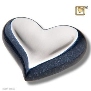 Speckled Indigo Heart Keepsake Urn