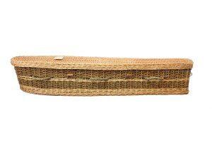 wicker seagrass coffin