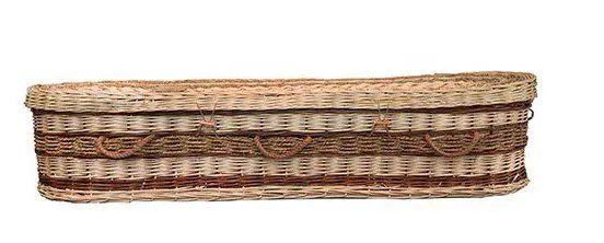 Swanborough Funerals provide a beautiful range of eco friendly coffins and caskets including the Somerset Wicker Seagrass Casket