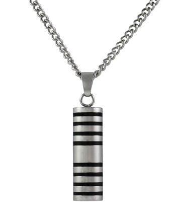 Large Striped Cylinder Ash Pendant