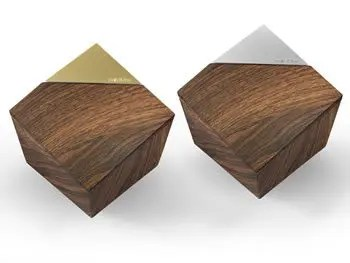 Premium WoodPrint ModUrn – Wood/Black and Wood/Gold Options