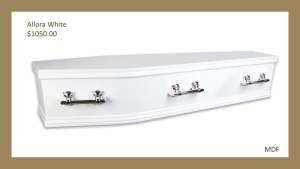 Allora White Coffin