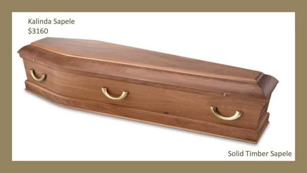Kalinda Sapele Solid Timber Coffin