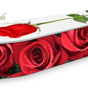 Red Roses Coffin