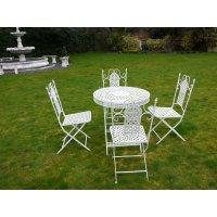 Buy White 4 Seater Dining Set   White Patio Set   Swanky ...