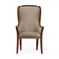 High Back Chairs Uk Only Baby Acapulco Chair Upholstered Dining Armchair Swanky Interiors