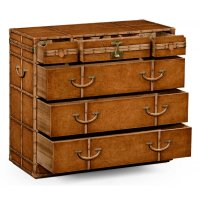 Travel Trunk Leather Chest of Drawers | Swanky Interiors