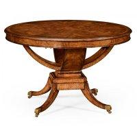 6-Seater Round Dining Table, Walnut | Swanky Interiors