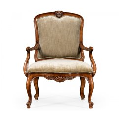 French Velvet Chair Old Fashioned Lawn Chairs Style Walnut Armchair Swanky Interiors