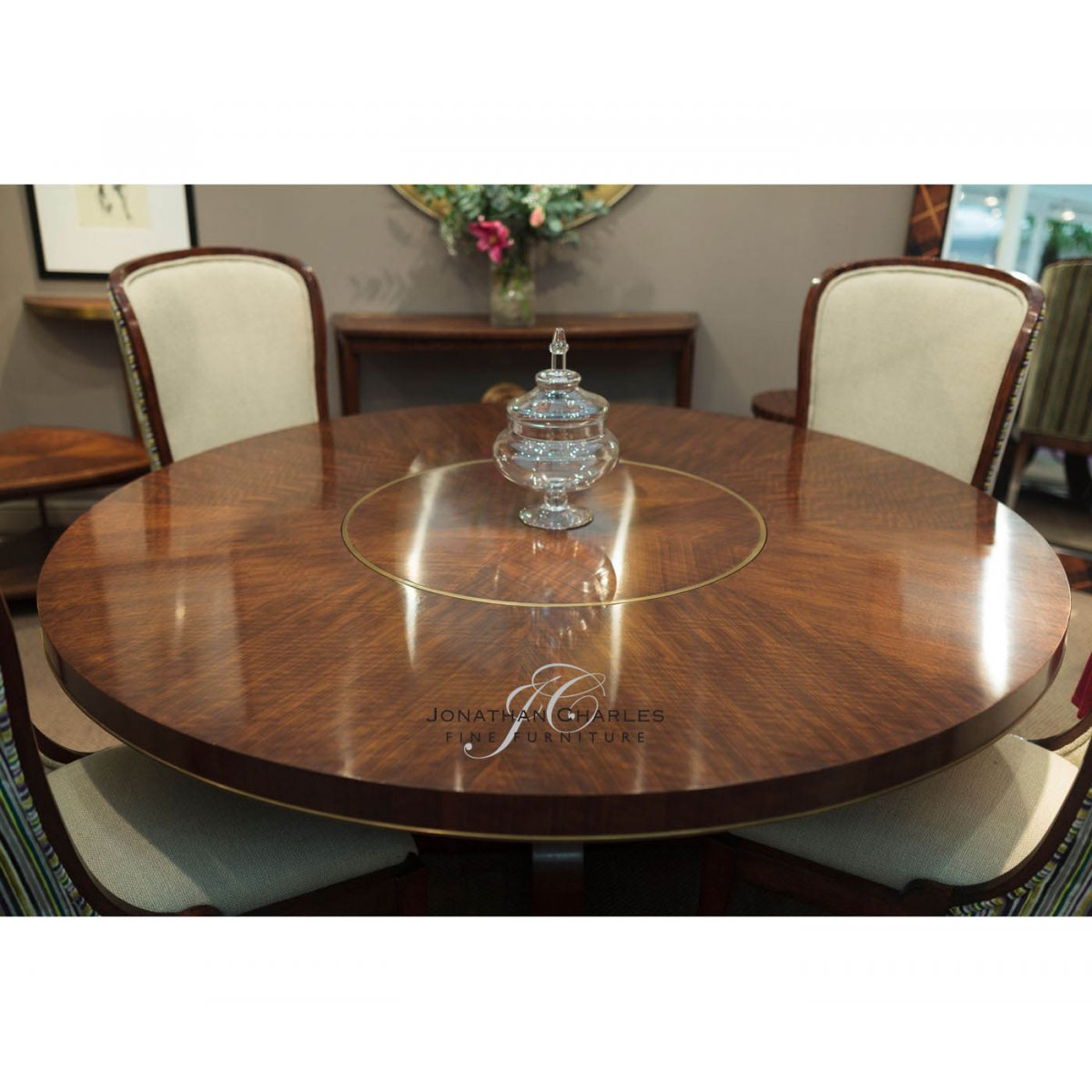 8Seater Round Dining Table Lazy Susan  Swanky Interiors
