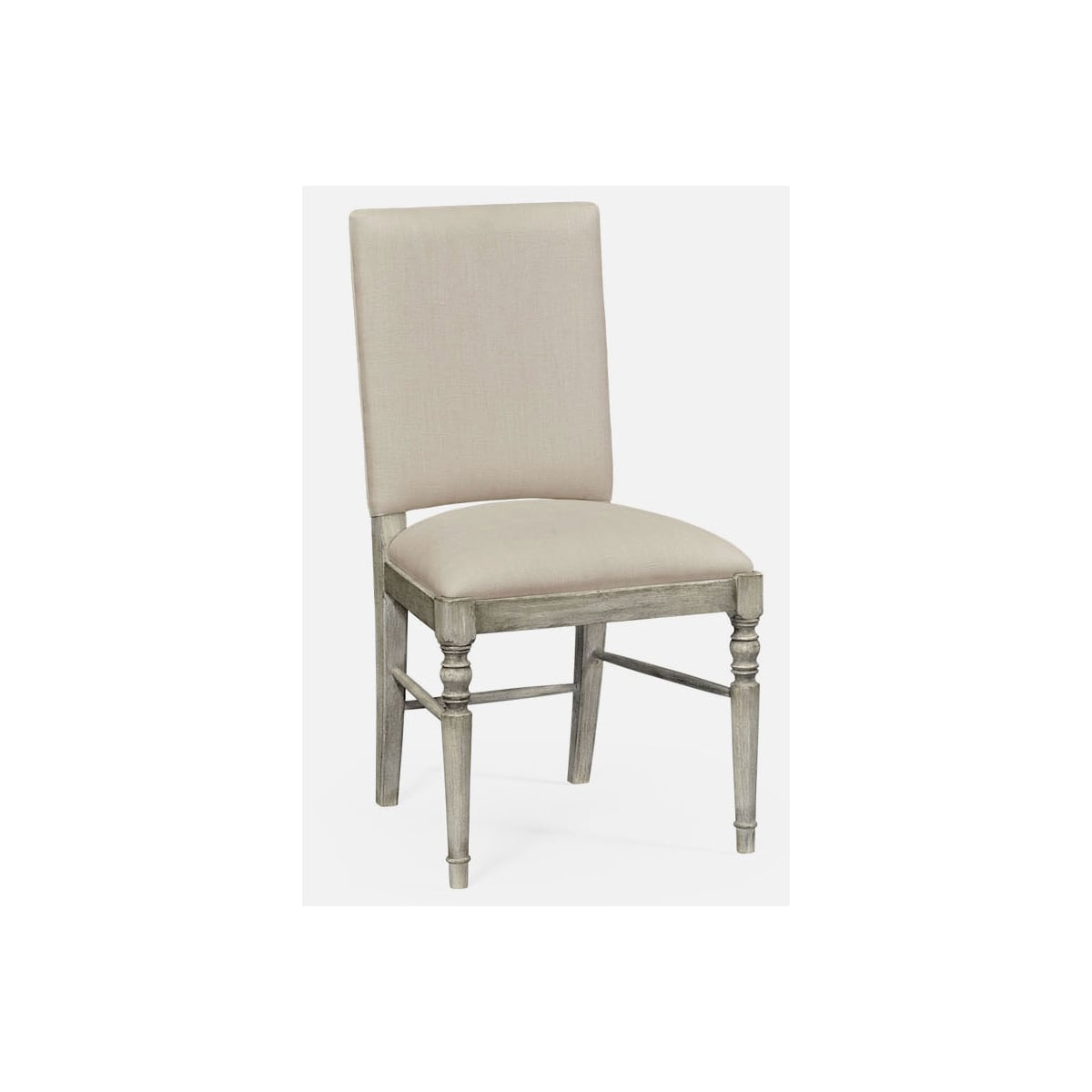 Rustic Grey Upholstered Dining Chair  Swanky Interiors