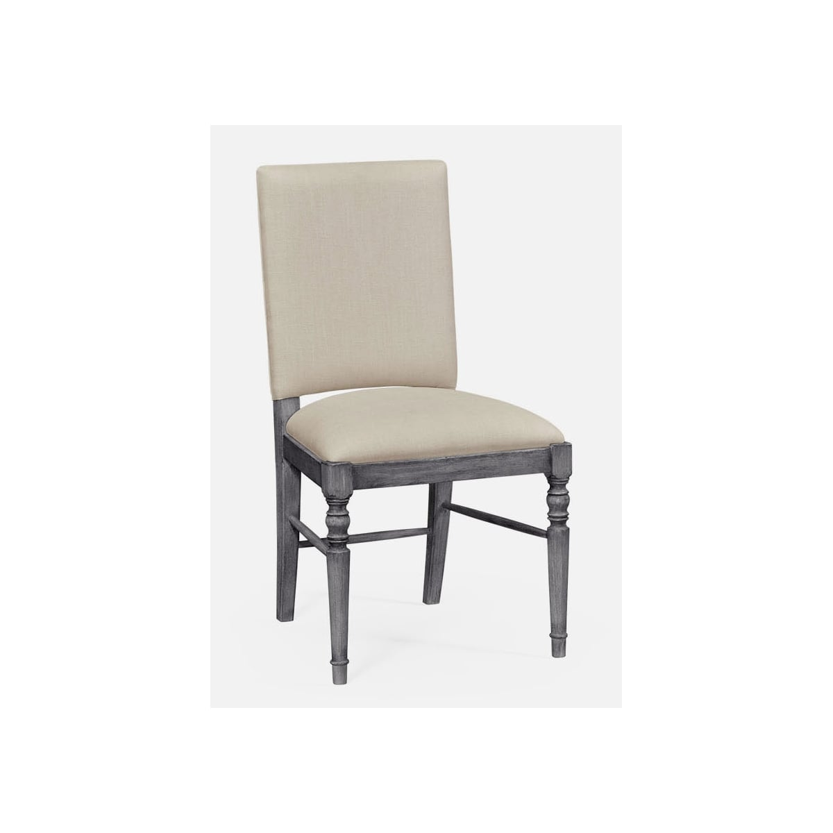 grey upholstered dining chairs uk chair upside down on table dark swanky interiors