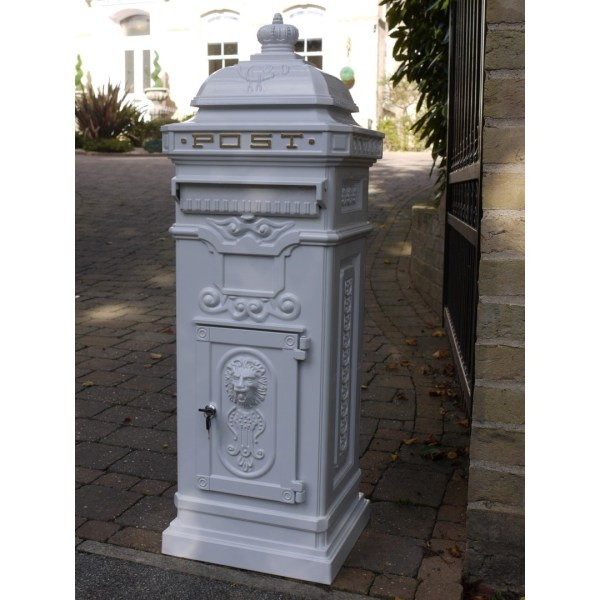 Cast Iron Standing Mailbox Post