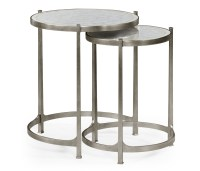 Nest of Mirrored Tables, Silver   Swanky Interiors