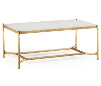 French Glass Gold Coffee Table | Swanky Interiors