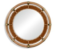 Nautical Style Round Oak Mirror | Swanky Interiors