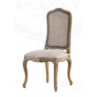 Rattan Dining Chair, Louis XV | Swanky Interiors