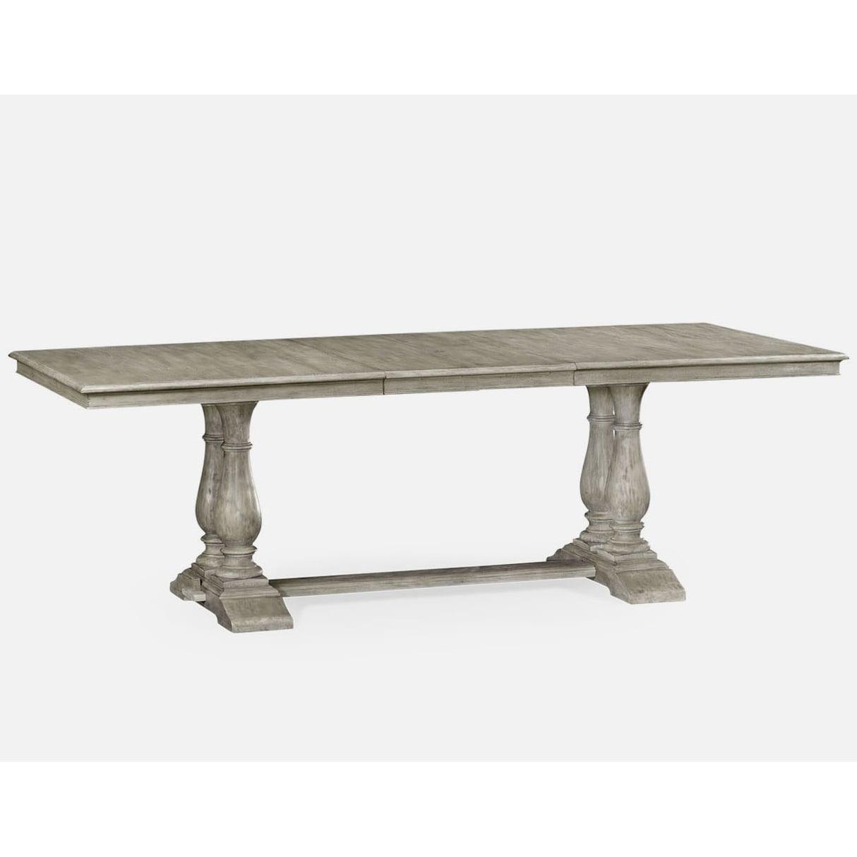 Rustic Grey Rectangular Extending Dining Table  Swanky
