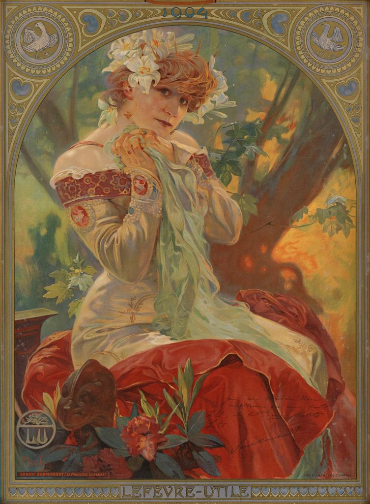 Sarah Bernhardt Muchas Muse  Swann Galleries News