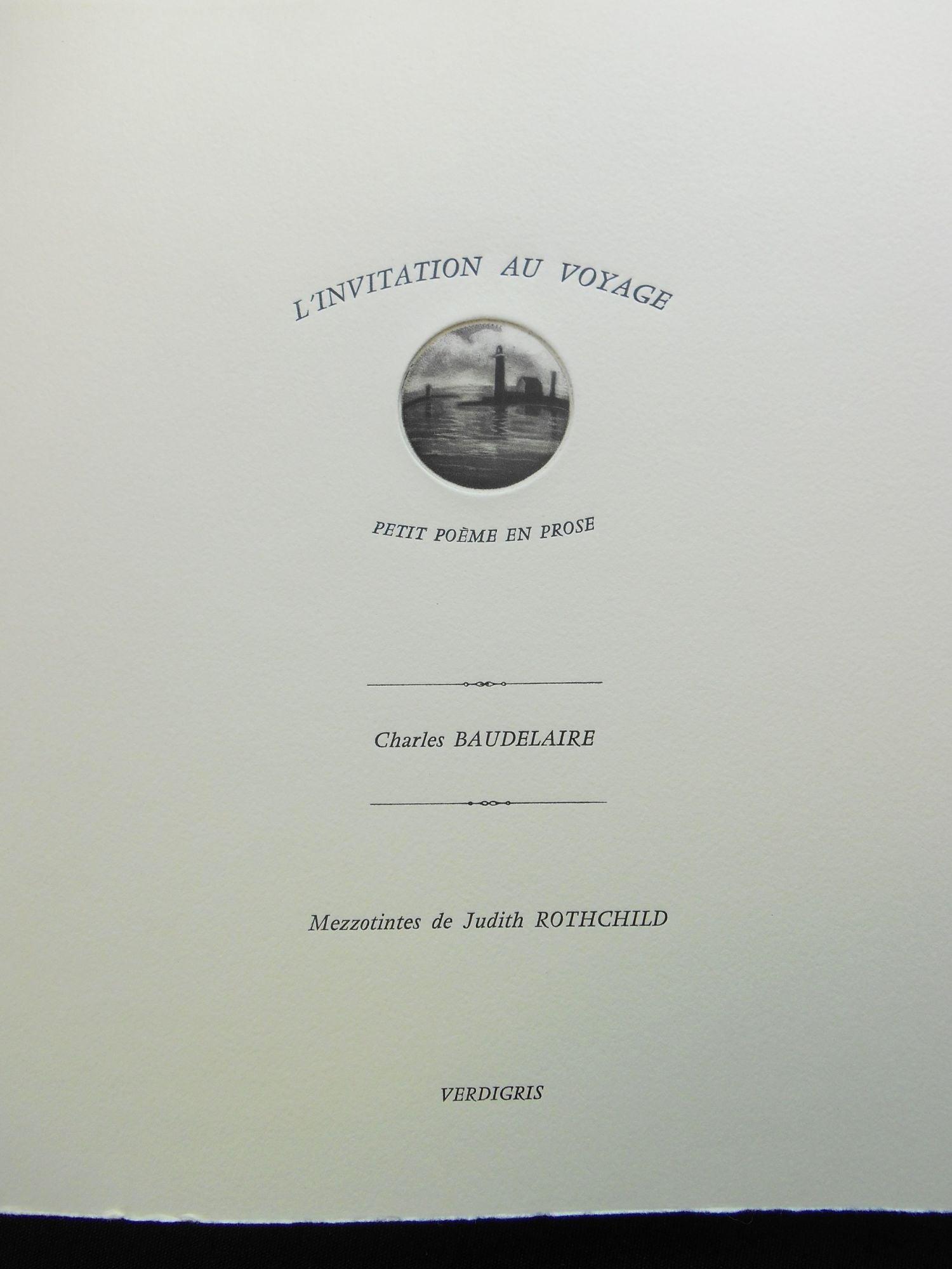 l invitation au voyage artist book judith rothchild petit poeme en prose by charles baudelaire judith rothchild artist on swan s fine books