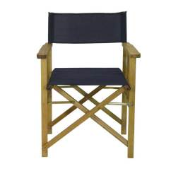 Directors Chair Outdoor Furniture Wicker Hanging Nz New Timber Frame Navy Blue Deck Folding