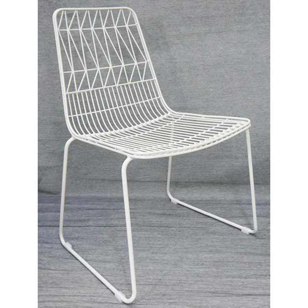 outdoor wire chairs folding travel chair net replica bend lucy dining stackable matt white