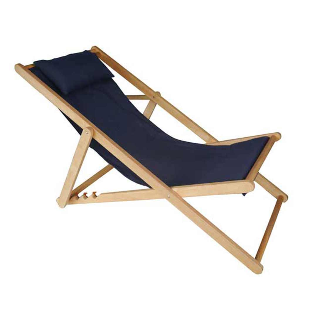 deck chair replacement covers australia graco swing vibrating with pillow timber folding outdoor navy blue
