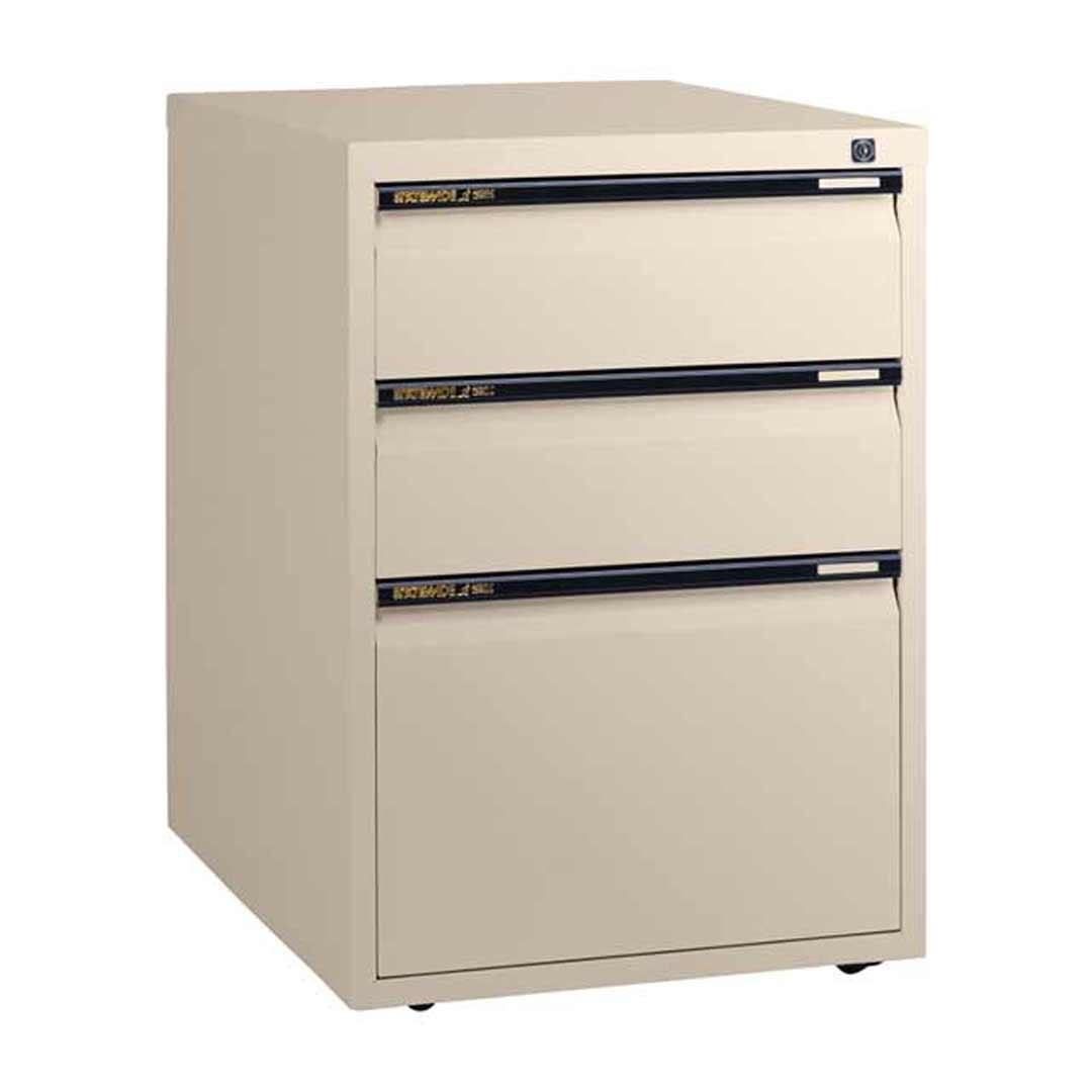 2 Drawer 1 Filing Cabinet Office Steel Mobile Pedestal