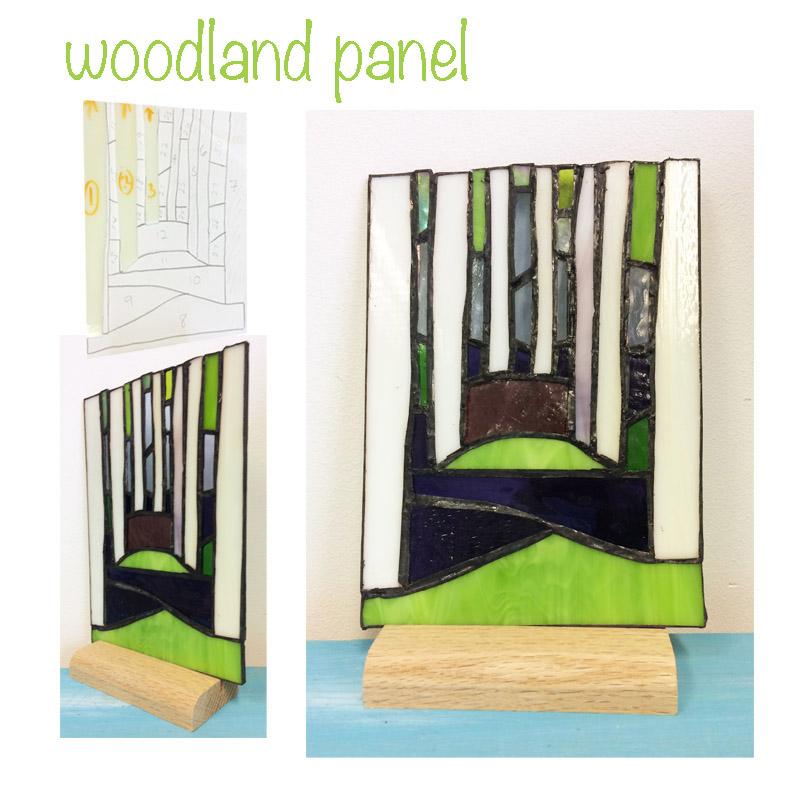 glass woodland scene
